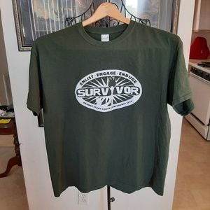 Survivor Orange Stake Youth Conference Green Shirt